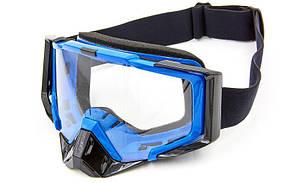 Мотоочки JIE POLLY J027-1 прозрачный визор (акрил, пластик, цвет оправы в цвета в ассортименте)