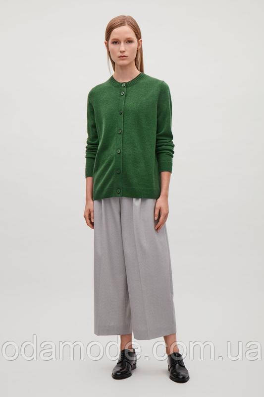 Кофта женская шерстяная зелёная  COS