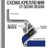 Профіль алюмінієвий для натяжних стель - ширяючий, посилений, чорний фарбований, без вставки №3. Довжина 2,5 м, фото 4