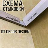 Профіль алюмінієвий для натяжних стель - ширяючий, посилений, чорний фарбований, без вставки №3. Довжина 2,5 м, фото 6