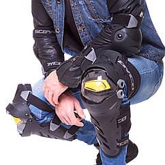 Комплект мотозащиты (колено, голень + предплечье, локоть) 4шт SCOYCO ICE BREAKER K17H17 (черный-желтый)