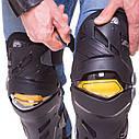 Комплект мотозащиты (колено, голень + предплечье, локоть) 4шт SCOYCO ICE BREAKER K17H17 (черный-желтый), фото 3