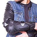 Комплект мотозащиты (колено, голень + предплечье, локоть) 4шт SCOYCO ICE BREAKER K17H17 (черный-желтый), фото 5