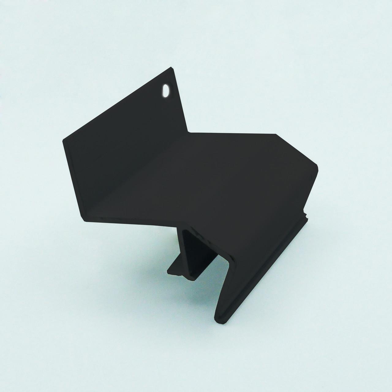 Профіль алюмінієвий для натяжних стель - ширяючий, посилений, чорний фарбований, без вставки №3. Довжина 2,5 м