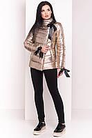 Женская демисезонная куртка с лентами