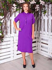 Літнє плаття великих розмірів з бенгалину для жінок, фото 2