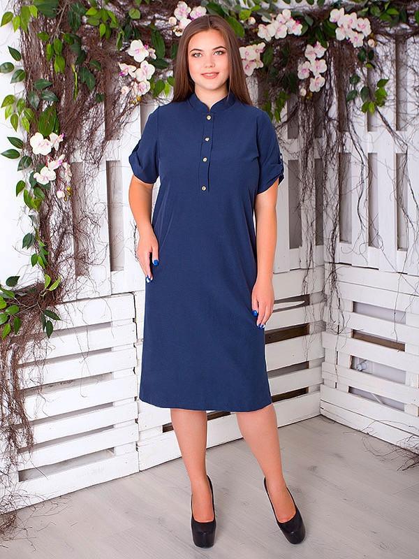 Літнє плаття великих розмірів з бенгалину для жінок