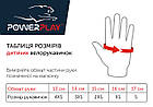 Велорукавички PowerPlay 5461 Чорно-червоні XS, фото 4