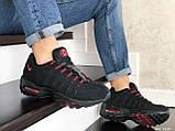 Мужские весенние кожанные кроссовки черно/красные Nike 95, фото 2