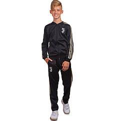 Костюм спортивный детский Клубный JUVENTUS LD-6105T размер 26-32 черный