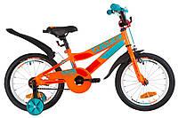 """Велосипед 16"""" Formula RACE усилен. St с крылом Pl 2019 (оранжево-бирюзовый)"""