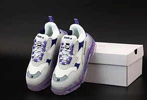 Кроссовки Balenciaga Triple S White Grey Blue