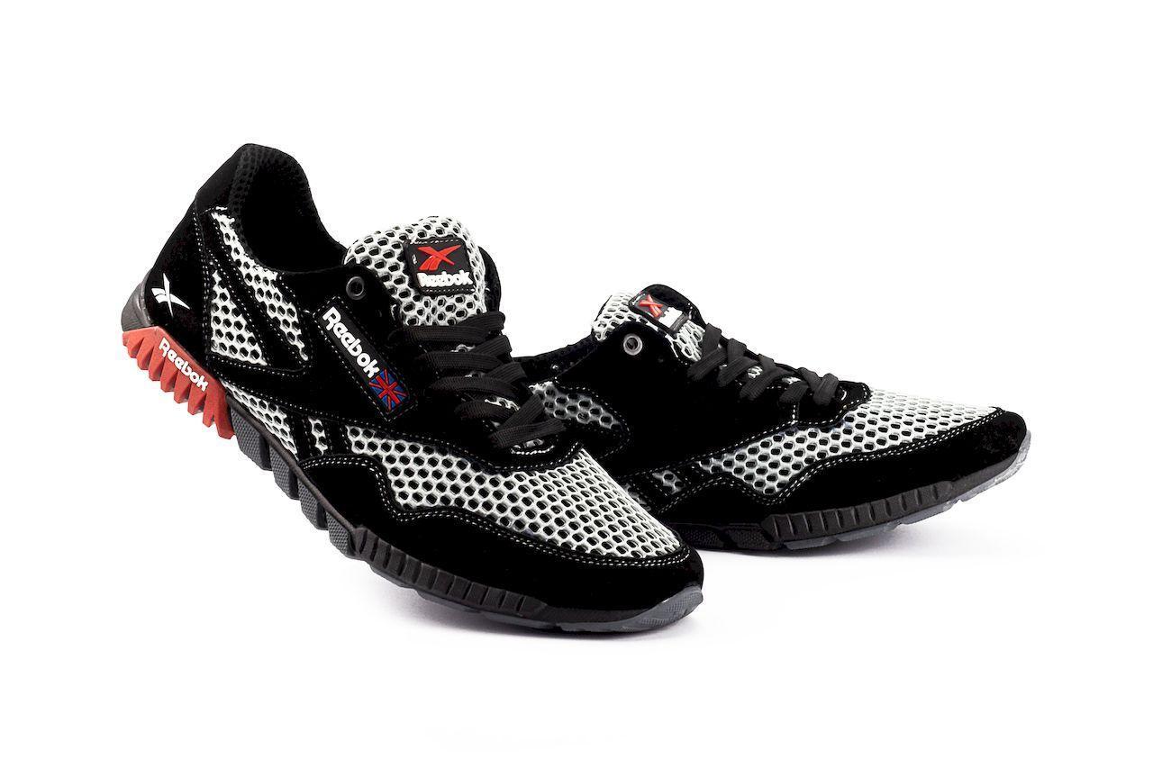 Мужские кроссовки текстильные летние черные-серые CrosSAV 18