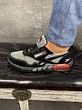 Мужские кроссовки текстильные летние черные-серые CrosSAV 18, фото 6