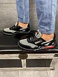 Мужские кроссовки текстильные летние черные-серые CrosSAV 18, фото 7