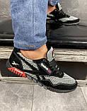 Мужские кроссовки текстильные летние черные-серые CrosSAV 18, фото 8