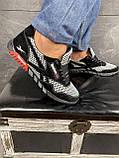 Мужские кроссовки текстильные летние черные-серые CrosSAV 18, фото 9