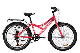 """Велосипед ST 24"""" Discovery FLINT Vbr с багажником зад St, с крылом St 2020 (розовый)"""