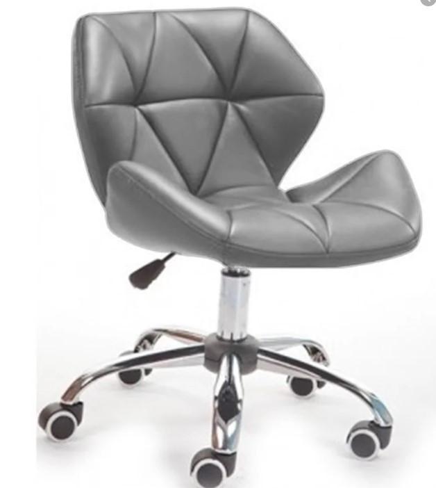 Кресло Стар Нью, мягкое, хром, цвет белый, серый
