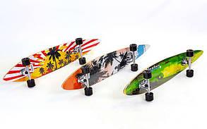 Лонгборд Круизер (скейтборд в сборе) LY-5359 (колесо-PU, р-р деки 117x22,5см, АВЕС-7, цвета в асортименте)