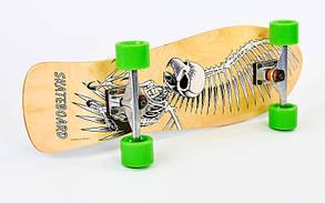 Лонгборд Лонгдистанс (скейтборд в сборе) LY-5363 (колесо-PU, р-р деки 79x24см, АВЕС-7)