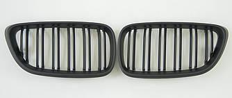 Решетка радиатора ноздри BMW F22 F23 стиль M2 (черный мат)