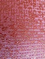 Обои Marburg Tango 58856 лофт 3д геометрия фигуры маленькие квадраты ярко красные с серебром 10.05х0.70 м.