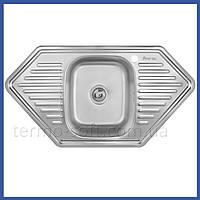 Мойка для кухни из нержавейки Imperial 9550-D Decor (IMP9550DDEC) трапеция врезная с крылом