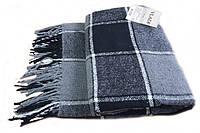 Плед шерстяной Vladi - Палермо черно-серый 140*200 полуторный оптом