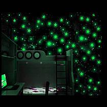 Флуоресцентные звезды (зеленые)