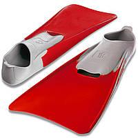 Ласты с закрытой пяткой MadWave M074605405W (резина, размер 38-39, красный-серый)