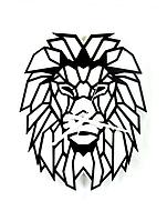"""Часы настенные лев - """"Аслан"""" (чёрные на белом фоне). Авторские дизайнерские настенные часы."""