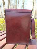 """Чоловіча сумка """"Патріот"""" з натуральної шкіри, фото 4"""