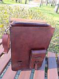 """Чоловіча сумка """"Патріот"""" з натуральної шкіри, фото 5"""