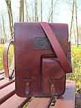 """Чоловіча сумка """"Патріот"""" з натуральної шкіри, фото 3"""