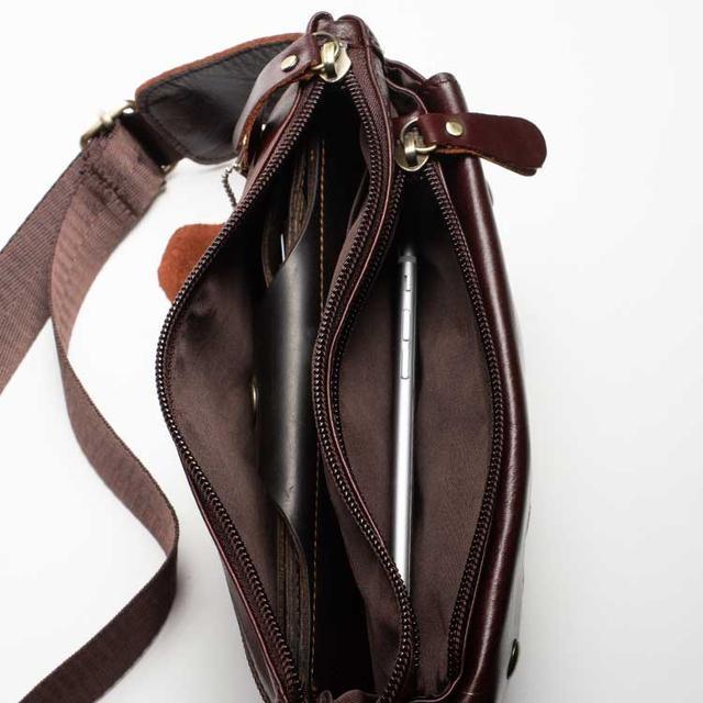 Шкіряна сумка бананка на пояс Marrant бордоваого кольору