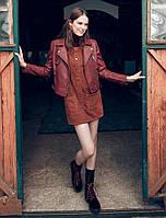 Куртка косуха цвет бордо KOTON  Турция 58116