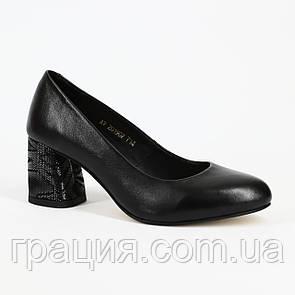 Женские элегантные туфли кожаныенатуральные на не большем каблуке