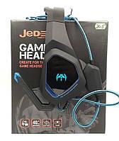 Игровые проводные наушники Jedel Gaming headset GH205 с микрофоном и подсветкой