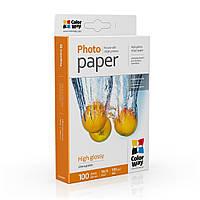 Фотобумага ColorWay глянцевая 180 г/м², 10х15, 100 л. (PG1801004R)