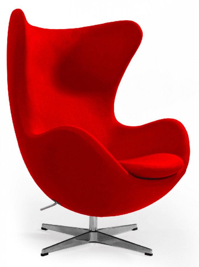 Кресло Эгг (Egg), мягкое, ткань, основание металл, все цвета