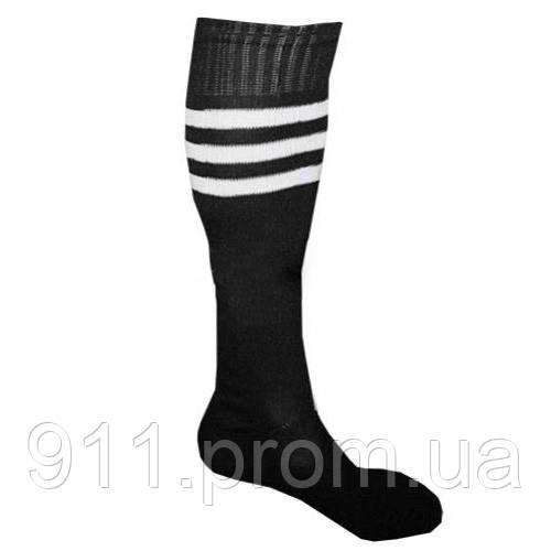 Гетры футбольные мужские CO-120 (нейлон, размер 40-45, цвет черный)