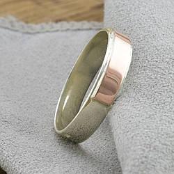 Серебряное кольцо с золотом Мира вес 1.8 г размер 18.5