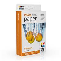 Фотобумага ColorWay глянцевая 230 г/м², 10х15, 100 л. (PG2301004R)