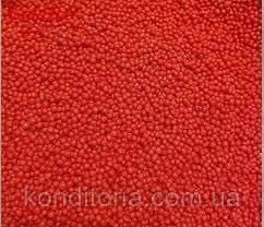"""Кондитерская посыпка """"Нонпарель"""", Красная с блеском, 2 мм. 50."""