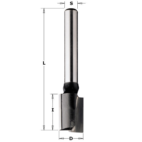 Фреза пазова з торцьовим ножем D16 I40 S8 Z2+1 174.161.11