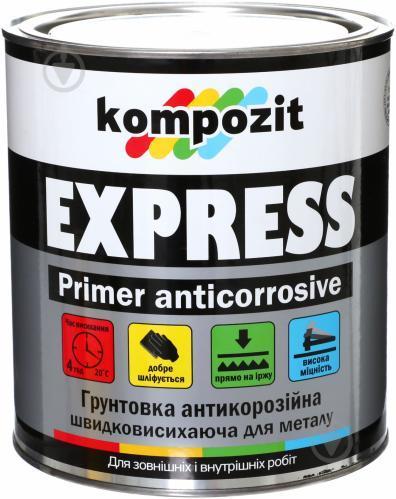 Кompozit ґрунтовка антикорозійні EXPRESS світло сірий 2.8 кг