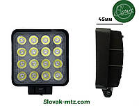 Светодиодная LED фара рабочая 36W/60° 36Вт,(3Вт*16ламп)