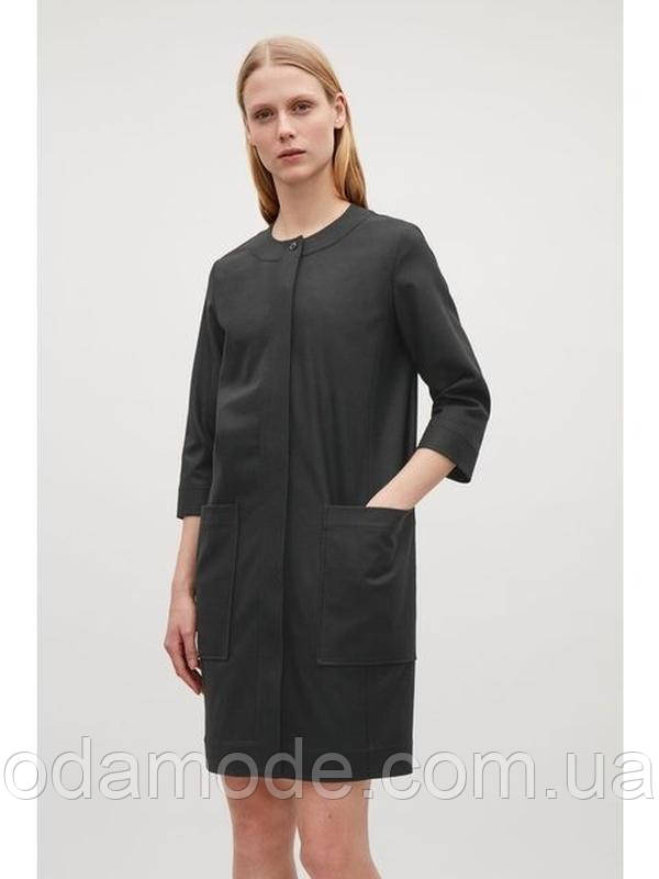 Платье женское на пуговицах шерстяное COS