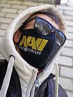 Маска защитная многоразовая  с вышивкой NAVI